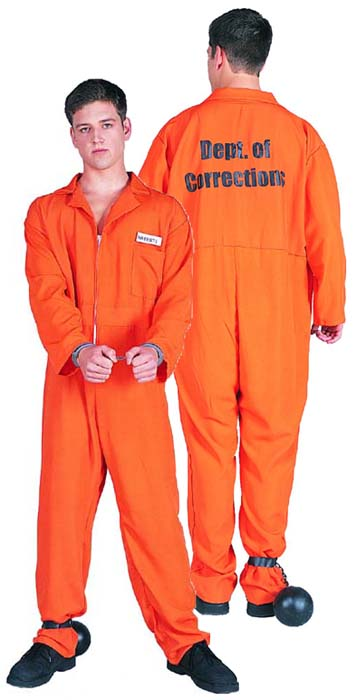 Fun 'n Folly Escaped Convict (orange jumpsuit) Costume