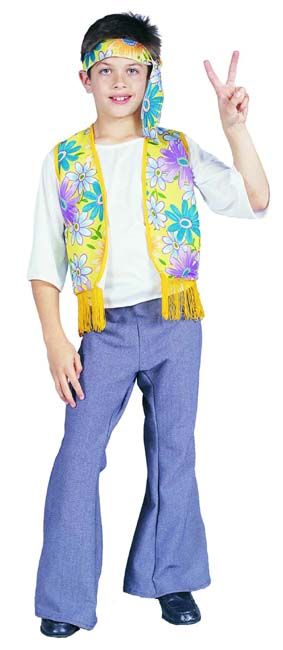 FLOWER CHILD BOY  sc 1 st  Fun u0027n Folly & Fun u0027n Folly Childrenu0027s 60u0027s Hippie Flower Child Boy Costume