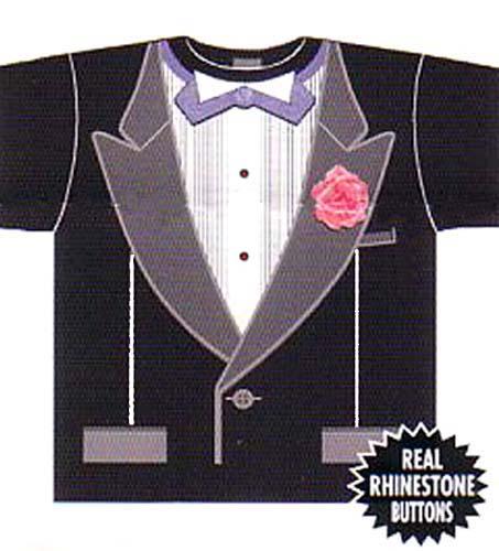 Shirt Tuxedo Print Tuxedo Front T-shirt