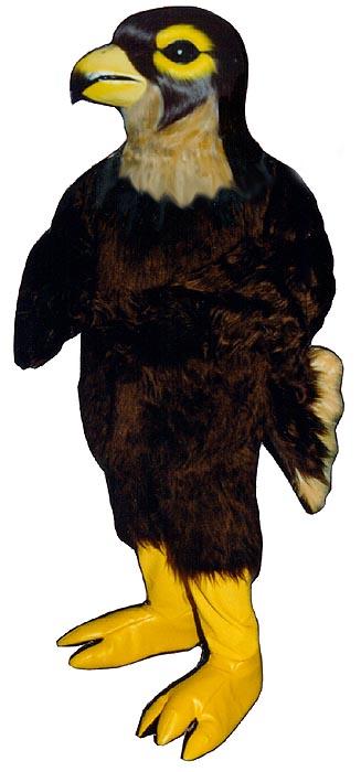 Blue hawk mascot costume