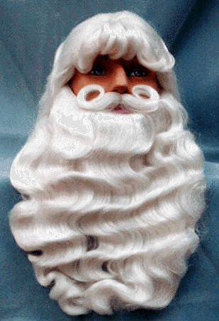 fba4b170ef1 Fun 'n Folly Christmas Santa Wig & Beard Sets